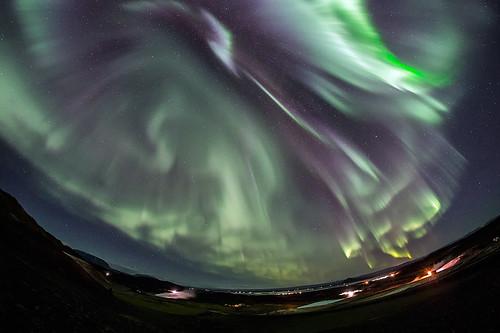 Aurora paroxysm over Mývatn