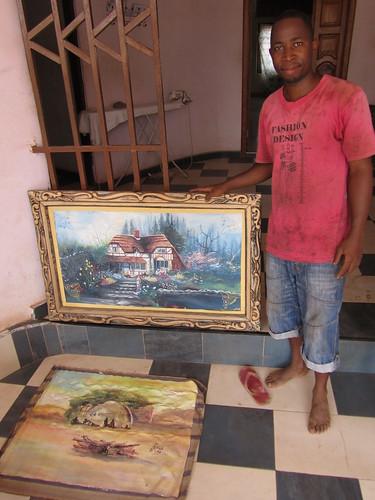 africa landscapes artist daniel paintings ghana ashanti region adu kerkhoff manhyia godfred