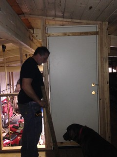 installing the door with no lights yet