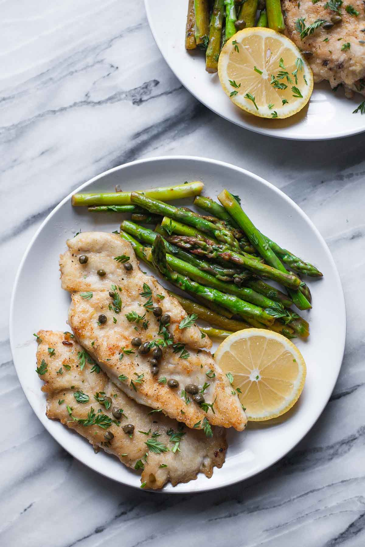 Chicken Piccata with Asparagus (Gluten free, Paleo, Whole30)