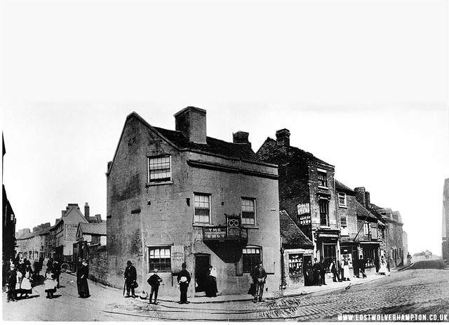 Pipers Row, Walsall Street and Bilston Street Junction circa 1900.