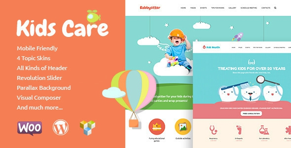 Kids Care v1.7 - Multi-Purpose Children WordPress Theme