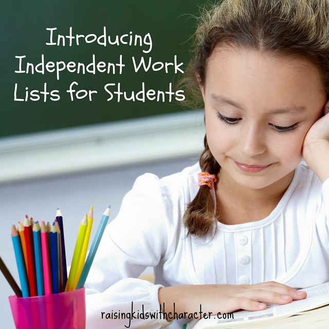 Introducing Independent Work Lists for Students