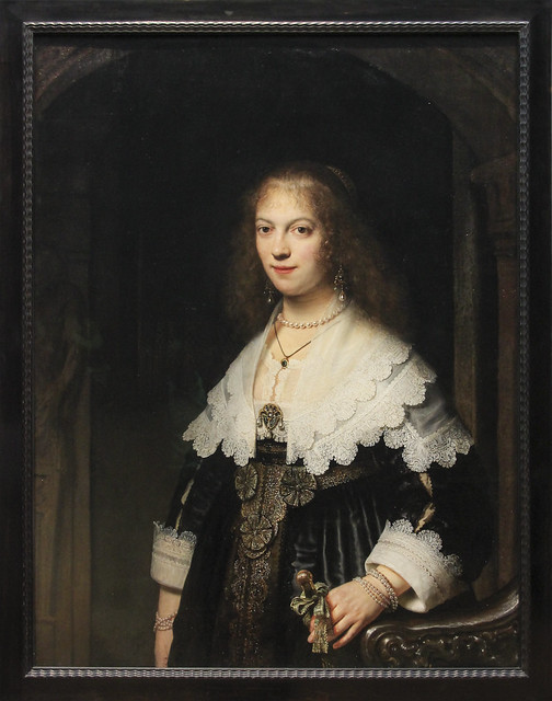 Potrait of a Woman, Possibly Maria Trip, Rembrandt Harmensz van Rijin, 1639