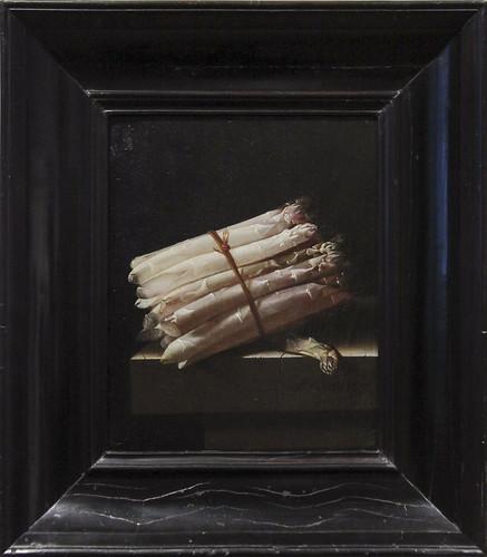 Still Life with Asparagus, Adriaen Coorte, 1697