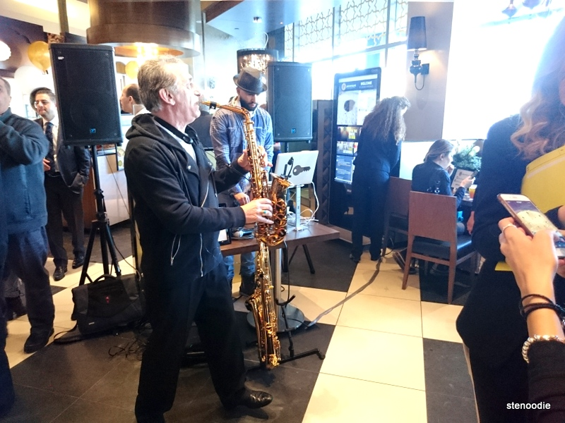 DJ Low Key and live saxophone player