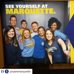 Golden Eagles taking flight at @mitchellairport. Repost from @youaremarquette. #WeAreMarquette