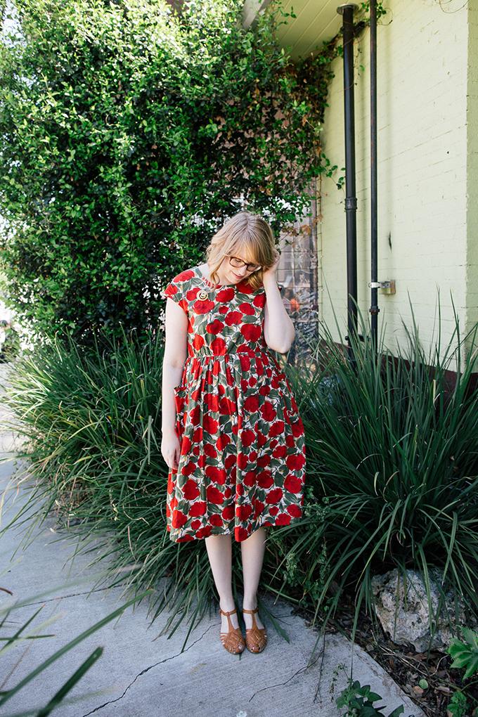 vintage poppy dress4