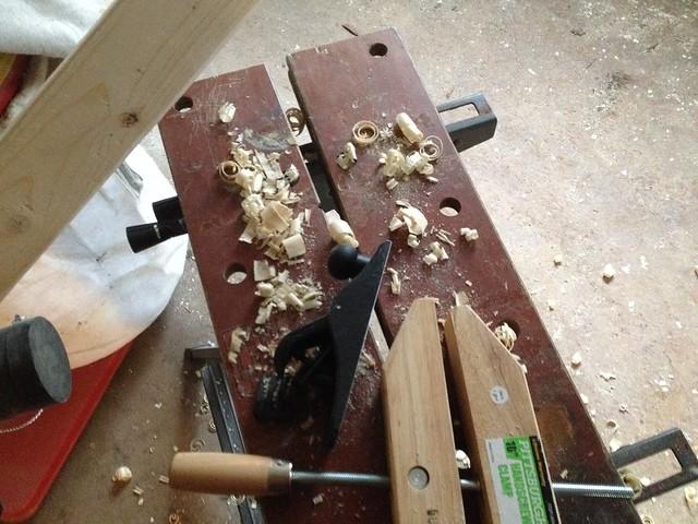 Loom progress shots.
