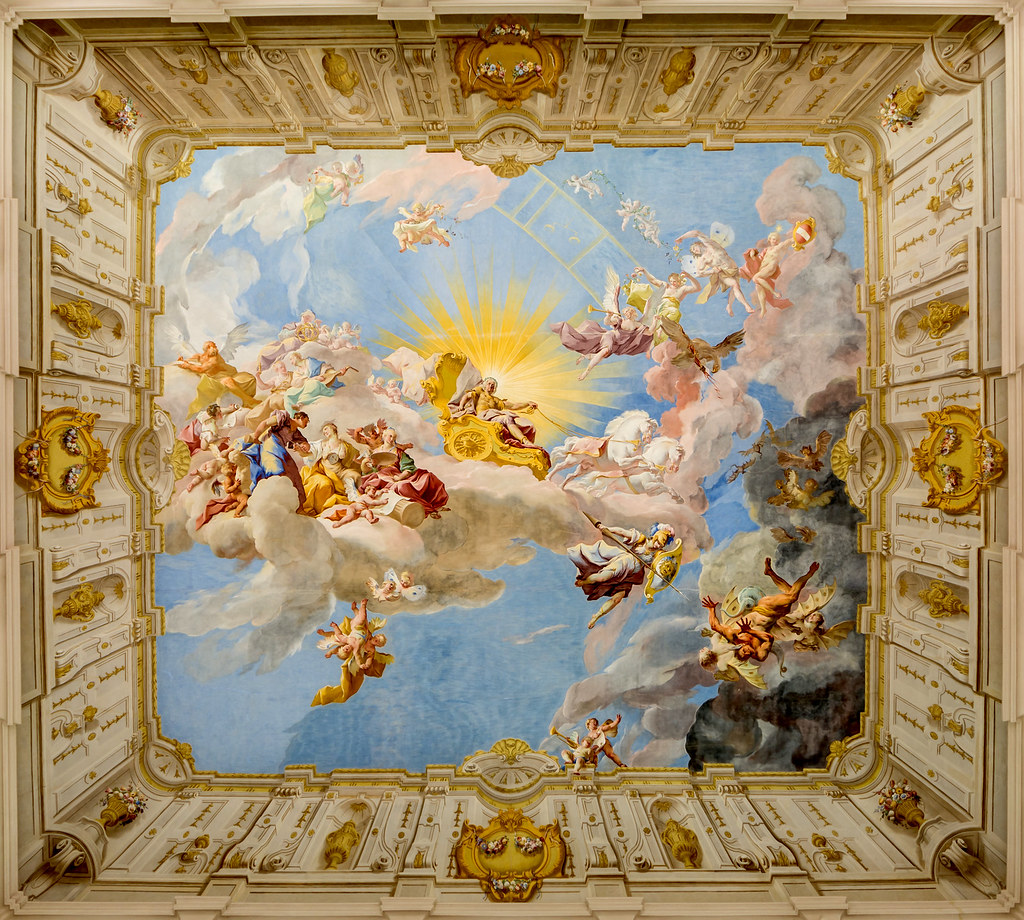 Apotheosis of Emperor Charles VI by Paul Troger, 1739 in Göttweig Abbey, Austria. Credit Uoaei1
