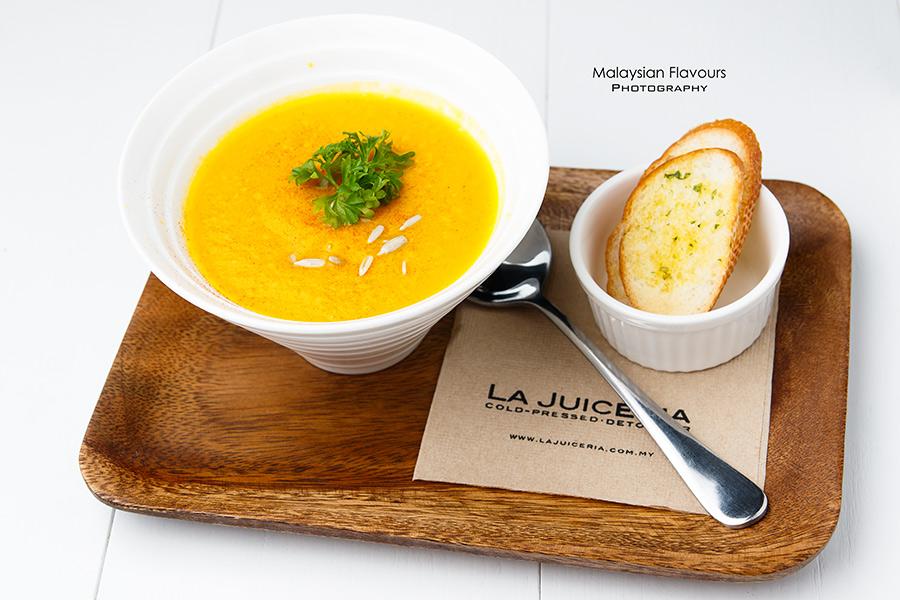 Goodness Greens Cafe by La Juiceria TTDI pumpkin soup