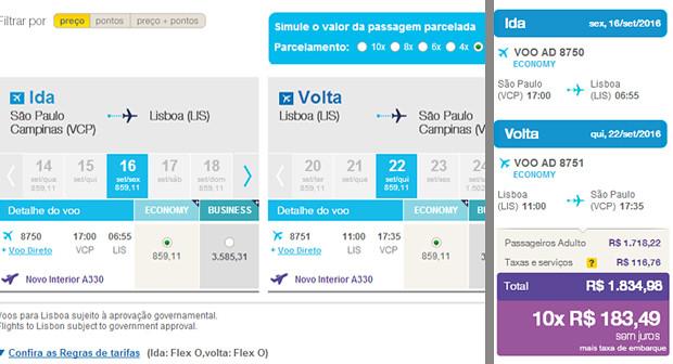 Nova rota Campinas - Lisboa da Azul Linhas Aéreas 1