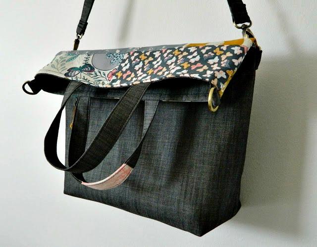 Megan Foldover Tote ~ s.o.t.a.k Handmade