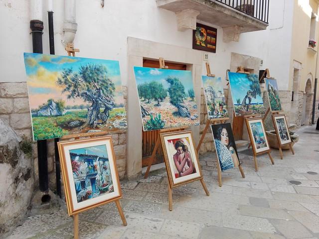 La via degli Artisti mostra quadri rutigliano
