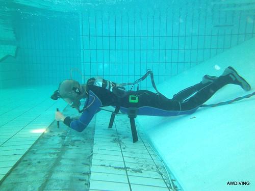 onderwater werk zwembad
