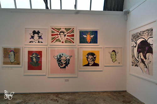 D Exhibition In London : London: d*face misprints & misfits @ stolenspace butterfly art news