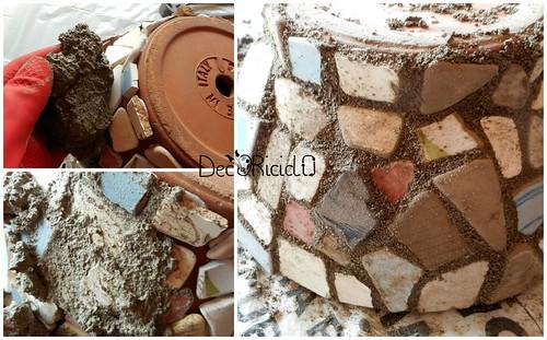vaso terracotta con mosaico ricicloso 8