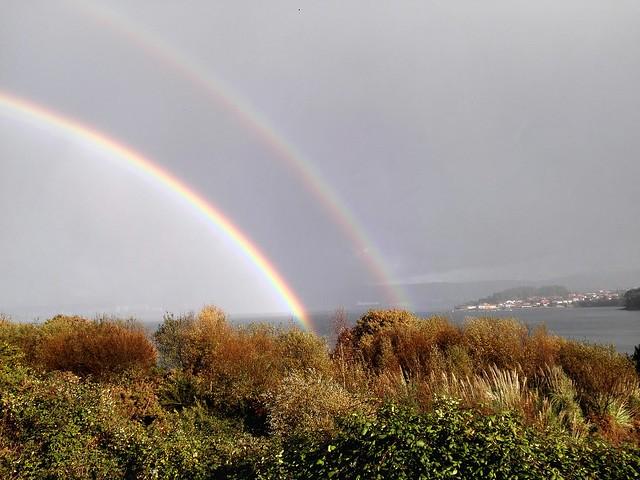 Arco iris en la ria de Ferrol