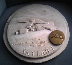 Skylab I plaster and medal