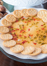 Jalapeno Pepper Jam with Cream Cheese and Ritz Crackers
