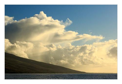 ferry clouds sunrise landscape hawaii unitedstates molokai molokaiprincess