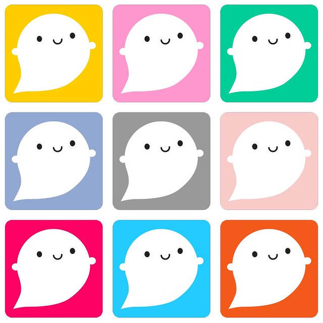 Ordered some colourful ghost stickers to go out with pre-orders of the new limited edition ghost brooch! What do you think it will be made of this time?
