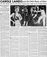 Carole Landis Newspaper Articles