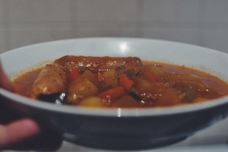 slow cooker sausage casserole