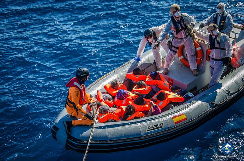 First Rescue operation for ESPS  Numancia – Op. Sophia EUNAVFOR MED