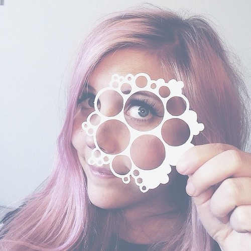 Kristine Braanen with Freehand Cut Paper Circles
