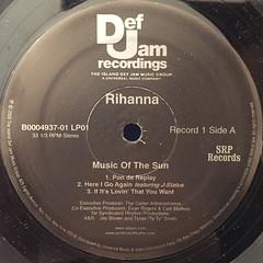 RIHANNA:MUSIC OF THE SUN(LABEL SIDE-A)