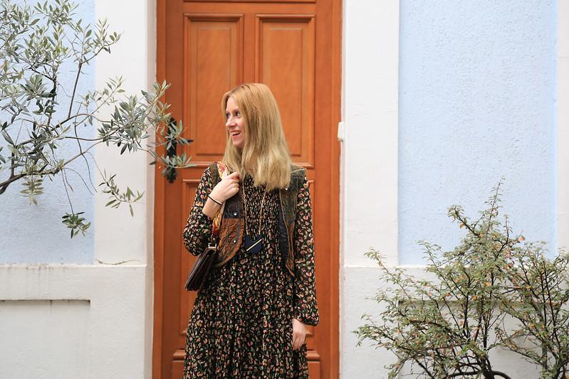 robe imprimé fleuri style bohème