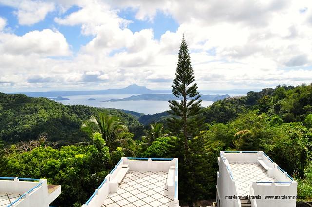 View of Taal Lake from Santorini Villa Room Estancia Resort Hotel