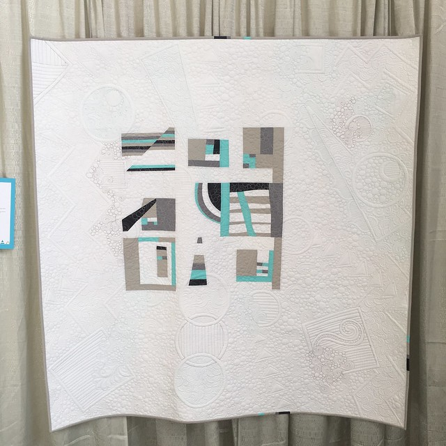 """Modern Glacier"" by Pamela Gavin of Bakersfield, CA.  Quilted by Darla Hennessee Hall"