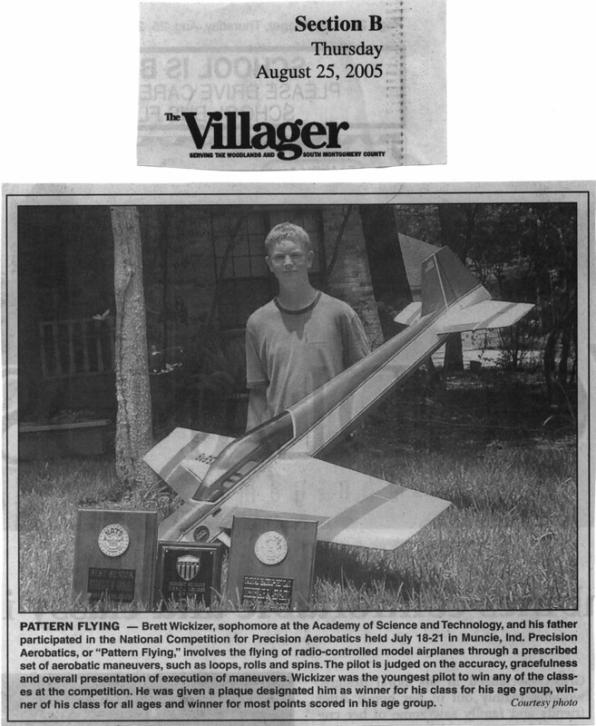 Model Aviation Magazine - Interview with Brett Wickizer