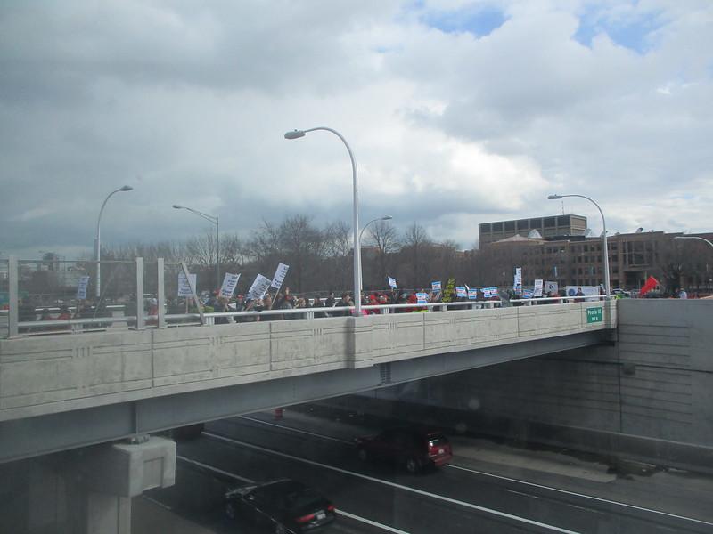 UIC Rally - Over Eisenhower Expressway