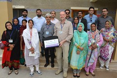 Mr. Carsten Mueller and Wajid Junejo  Group Pic with Women Empowerment on Livestock Development