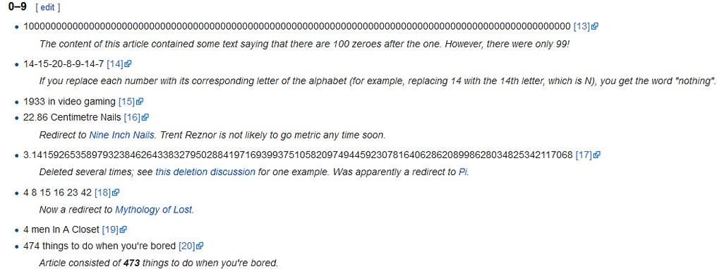 Wikipedia: Dumme Artikelnamen