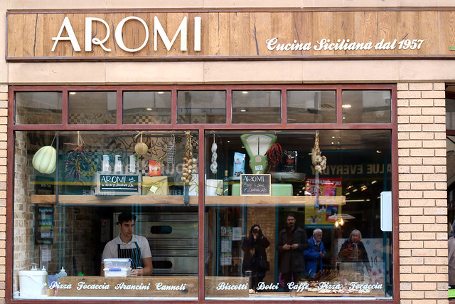 Aromi Cambridge shop front