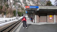 Na peronie stacji Morteratsch - to ja.