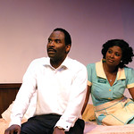 The Mountaintop Photo credit P. Switzer Photography 2016 - Pictured Cedric Mays (Martin Luther King, Jr.) and Betty Hart (Camae)