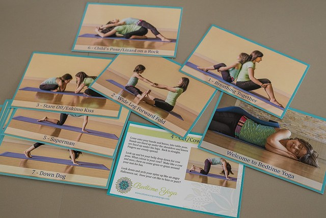 Bedtime yoga cards