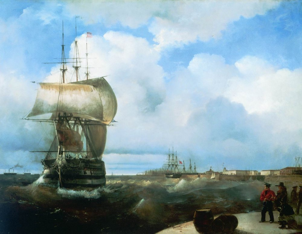 The Great Roads at Kronstadt by Ivan Aivazovsky, 1836