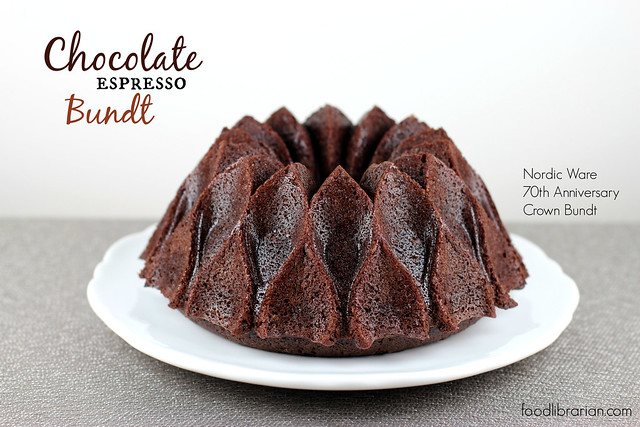 Chocolate Espresso Bundt Cake in Nordic Ware Crown Bundt Pan