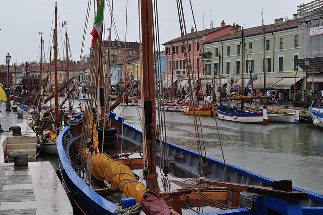 Port canal, Cesenatico, province de Forli-Cesena, Emilie-Romagne, Italie.