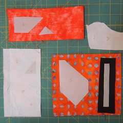 Templates ironed to fabrics