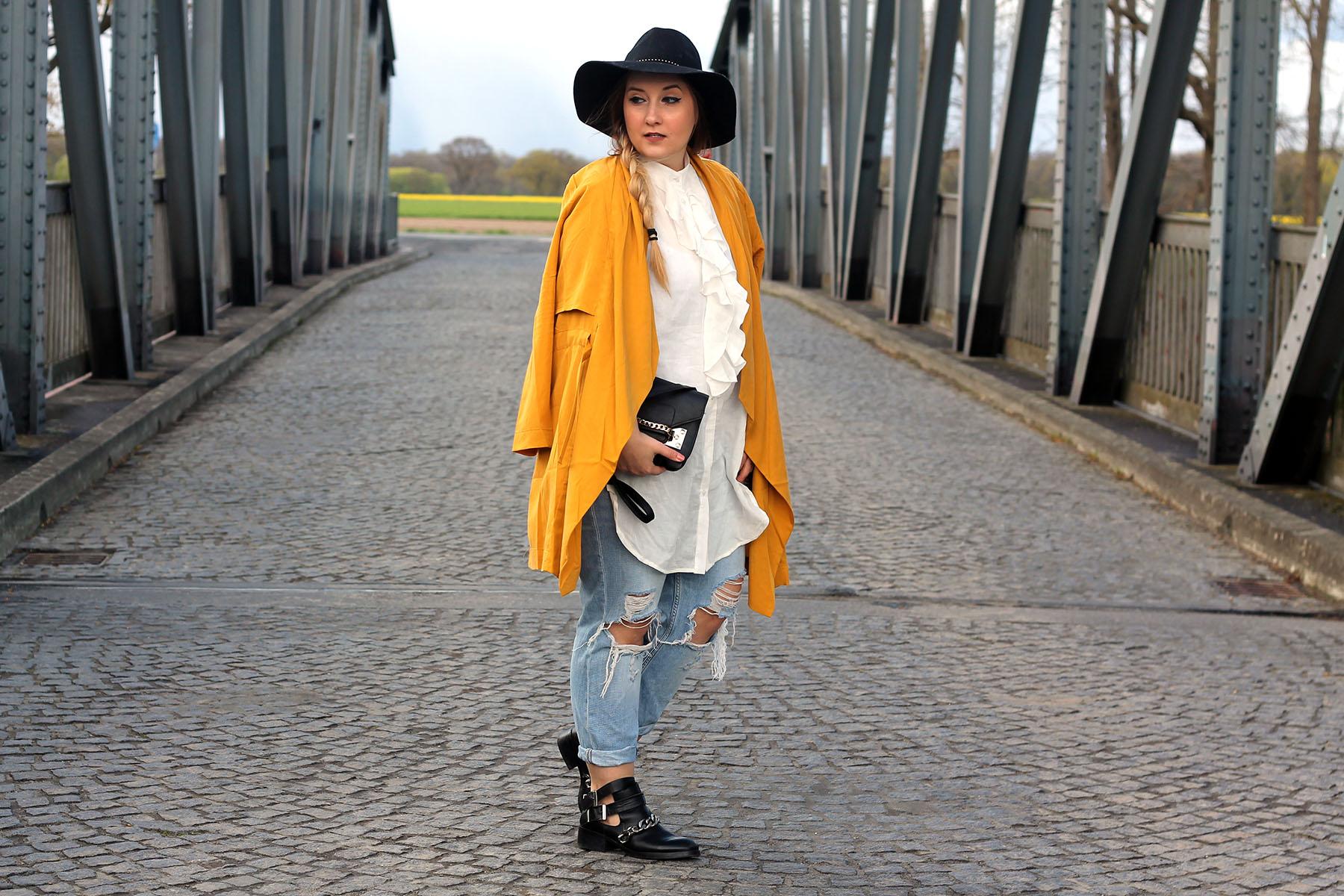 2-outfit-modeblog-fashionblog-hut-gelber-mantel-trend-blogger