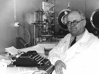 Grandfather in his lab