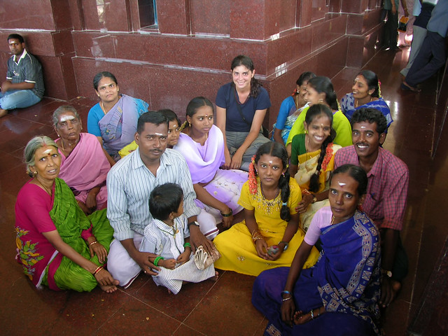 Familia India, en el Rock Fort de Trichy