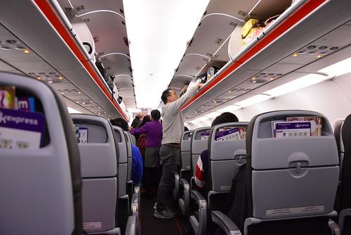 香港エクスプレスの機内の様子